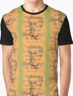 Democracy Is Four Wolves - Bierce Graphic T-Shirt