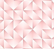 Chic Pastel Geometric Triangles Squares Pattern by FudgePudge