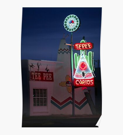 Route 66 Tee Pee Poster