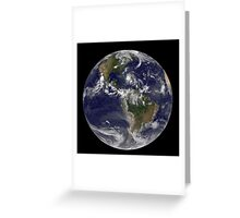 August 24, 2011 - Satellite view of the Full Earth with Hurricane Irene visible over the Bahamas. Greeting Card