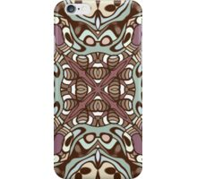 Mauve Taupe Sea Foam Nouveau Deco Pattern iPhone Case/Skin