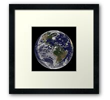 Full Earth with Hurricane Irene visible on the United States East Coast. Framed Print