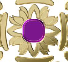 Vajra golden buddhist symbol Sticker