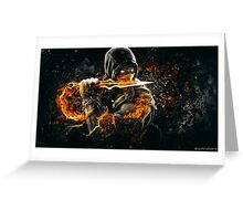 Mortal Kombat - Scorpion on Fire! Greeting Card