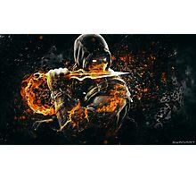 Mortal Kombat - Scorpion on Fire! Photographic Print