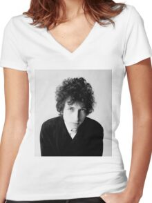 Bob Dylan 1966 Women's Fitted V-Neck T-Shirt