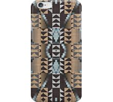 Pastel Blue Coral Orange Dark Brown Mosaic Pattern iPhone Case/Skin