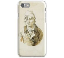 CASPAR DAVID FRIEDRICH (1774 -  1840), SELF PORTRAIT WITH CAP AND EYE PATCH iPhone Case/Skin