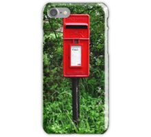 Red UK Letterbox Painting iPhone Case/Skin
