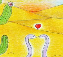 Flirting Snakes in the Desert Sticker