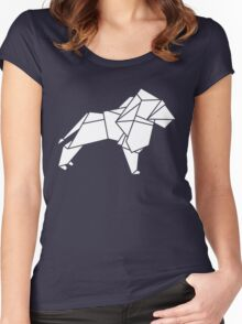 Origami Lion Women's Fitted Scoop T-Shirt