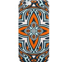 Orange Teal Blue Ethnic Turkish Mosaic Pattern iPhone Case/Skin