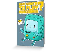 BMO adventure time - videogames Greeting Card