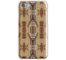 Orange Khaki Dark Caramel Coffee Brown Rustic Pattern iPhone Case/Skin