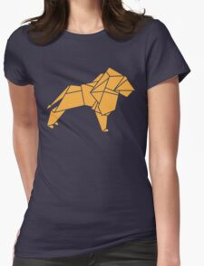 Origami Lion Womens Fitted T-Shirt