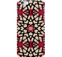 Coral Red Pastel Green Moroccan Mosaic Pattern iPhone Case/Skin