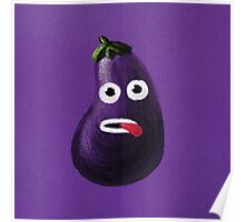 Funny Eggplant Poster