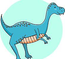 Blue dinosaur by merionmerion