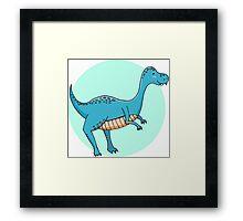 Blue dinosaur Framed Print