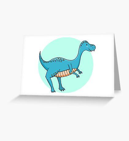Blue dinosaur Greeting Card