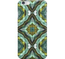 Teal Turquoise Sea Foam Nouveau Deco Pattern iPhone Case/Skin