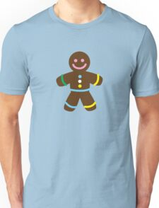 Cute Merry Christmas Gingerbread Man Unisex T-Shirt