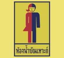 Transgender Toilet Sign, Thailand Kids Tee