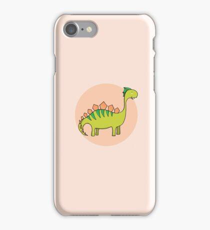Green dinosaur iPhone Case/Skin