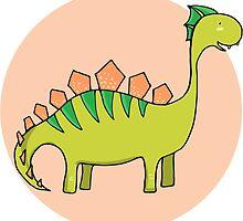 Green dinosaur by merionmerion