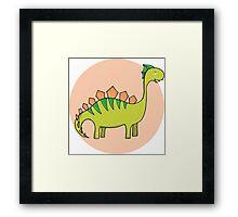 Green dinosaur Framed Print