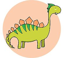 Green dinosaur Photographic Print