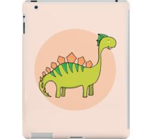 Green dinosaur iPad Case/Skin
