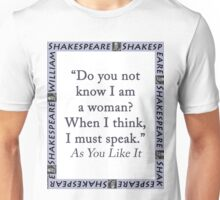 Do You Not Know I Am a Woman - Shakespeare Unisex T-Shirt