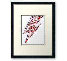 DB Lightning Quote Framed Print