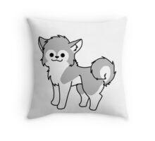 Chibi Husky Throw Pillow