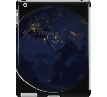 Full Earth showing city lights of Africa, Europe, and the Middle East. iPad Case/Skin