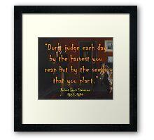 Don't Judge Each Day - Stevenson Framed Print