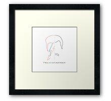 Bowie - Mercury Framed Print