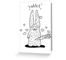 The rabbit and his carrot Greeting Card