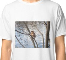 Sparrow by a pond Classic T-Shirt