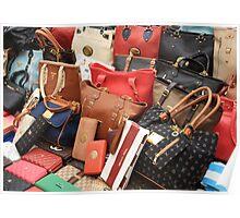 Women's Designer Handbags Poster