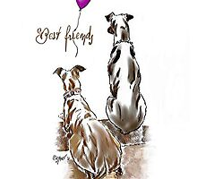 Best friends purple balloon by Sabine Jacobsen [SJArt]