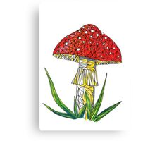 magic poisonous mushroom - red with white dots Canvas Print