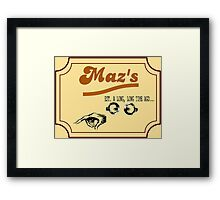 Maz's Watering Hole (Cheers!) Framed Print