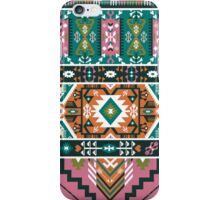 Decorative geometric pattern in tribal style iPhone Case/Skin