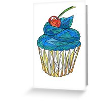 sweet muffin with cherry  Greeting Card
