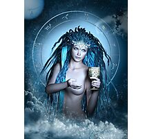 Aquarius Zodiac Fantasy Circle Photographic Print