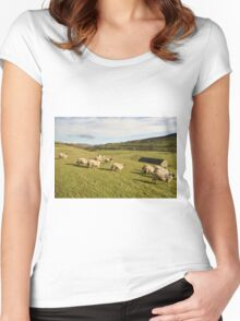 A Country Scene Women's Fitted Scoop T-Shirt