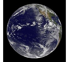 Full Earth showing various tropical storms. Photographic Print