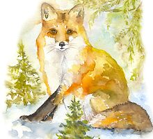fox in the woods  by juliafast77